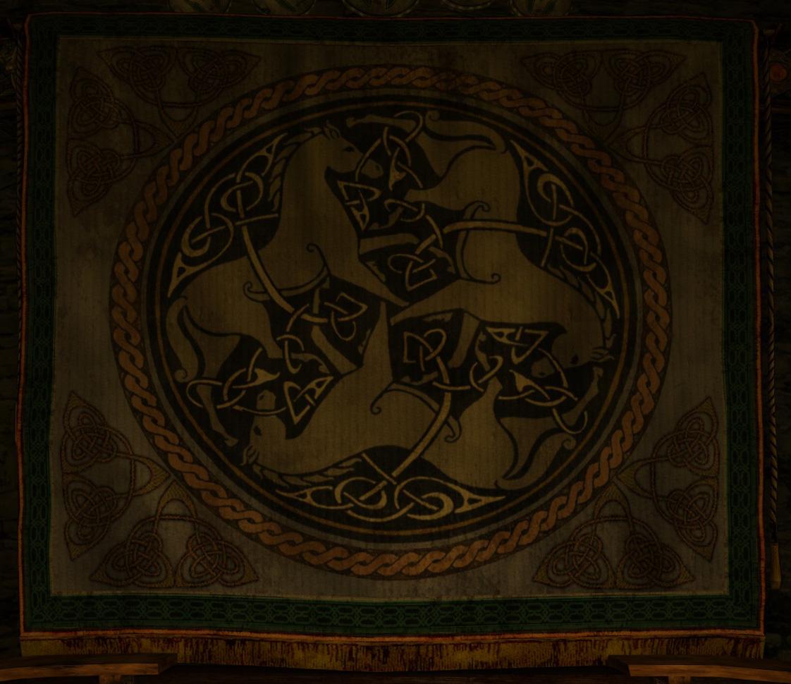 Tapisserie à Meduseld - Rohan
