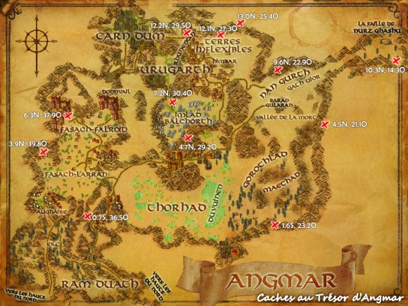 Caches au trésor d'Angmar